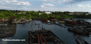 arthur kill ship graveyard photo