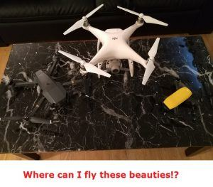 where can I fly my drone in the united states