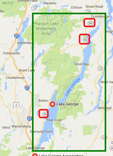 lake george location area
