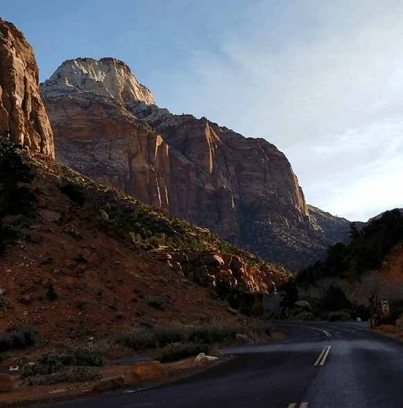 zion national park scenic road
