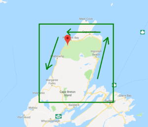 cabot trail map screenshot