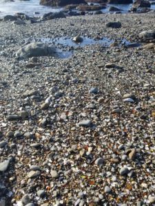 glass beach shore