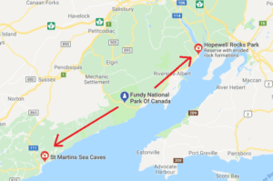 st. martins sea caves map