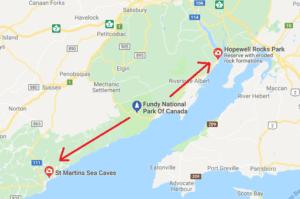 st. martins sea caves map