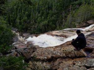 waterfall in gros morne park