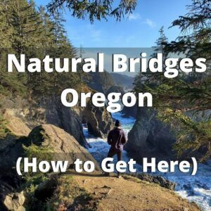 how to hike down into natural bridges in oregon