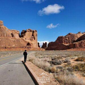 arches national park scenic drive north america