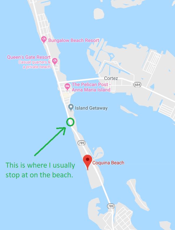 coquina beach map location