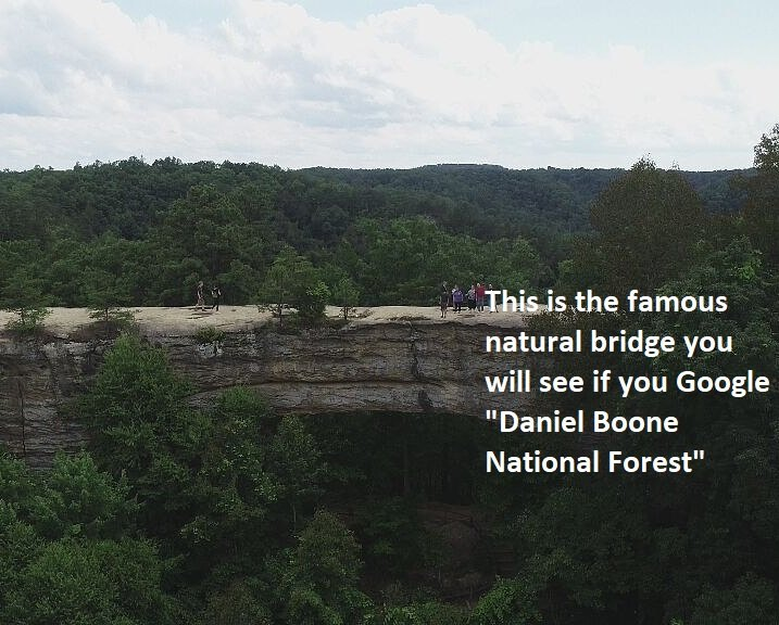 daniel boone famous natural bridge