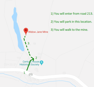 widow jane mine location and directions
