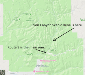 zion national park scenic drive screenshot