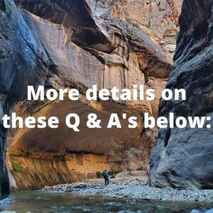 q and a on hiking the narrows