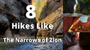 8 alternative hikes like the narrows of zion national park