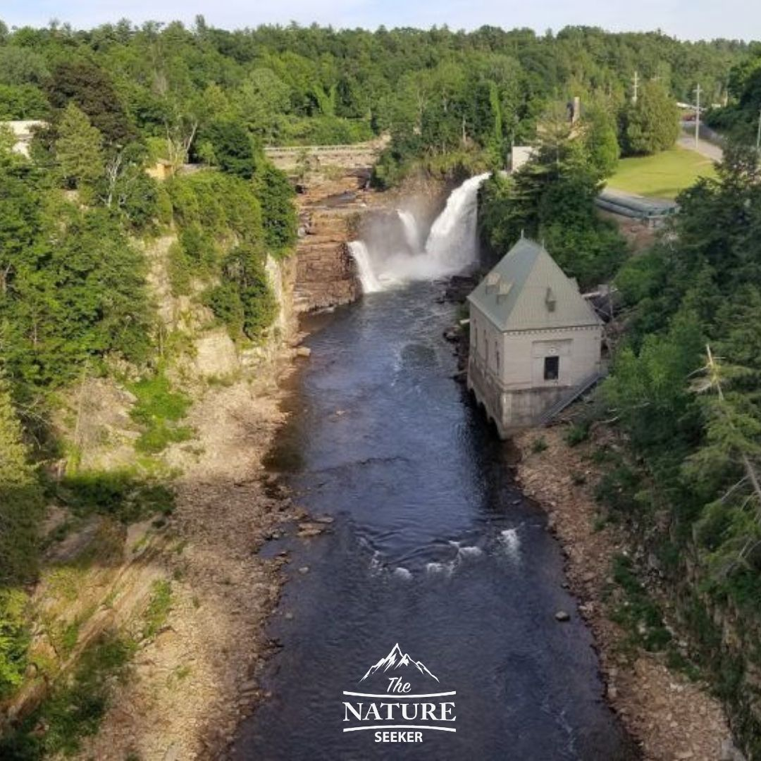 ausable chasm view from bridge