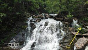 bastion falls hike to kaaterskill falls in the catskills