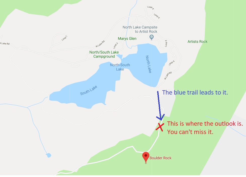 hiking trail near north south laek
