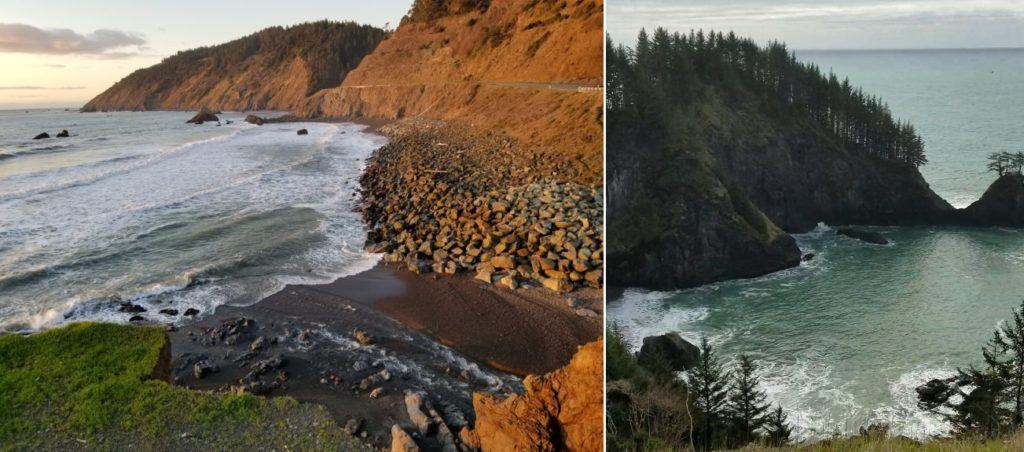 california coast vs oregon coast
