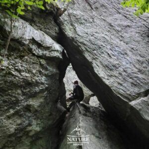 cave exploring at smugglers notch vermont