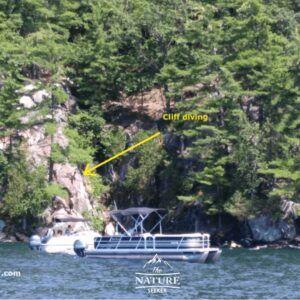 cliff jumping at lake george