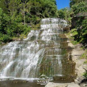 hector falls in finger lakes appalachian mountain road trip 02