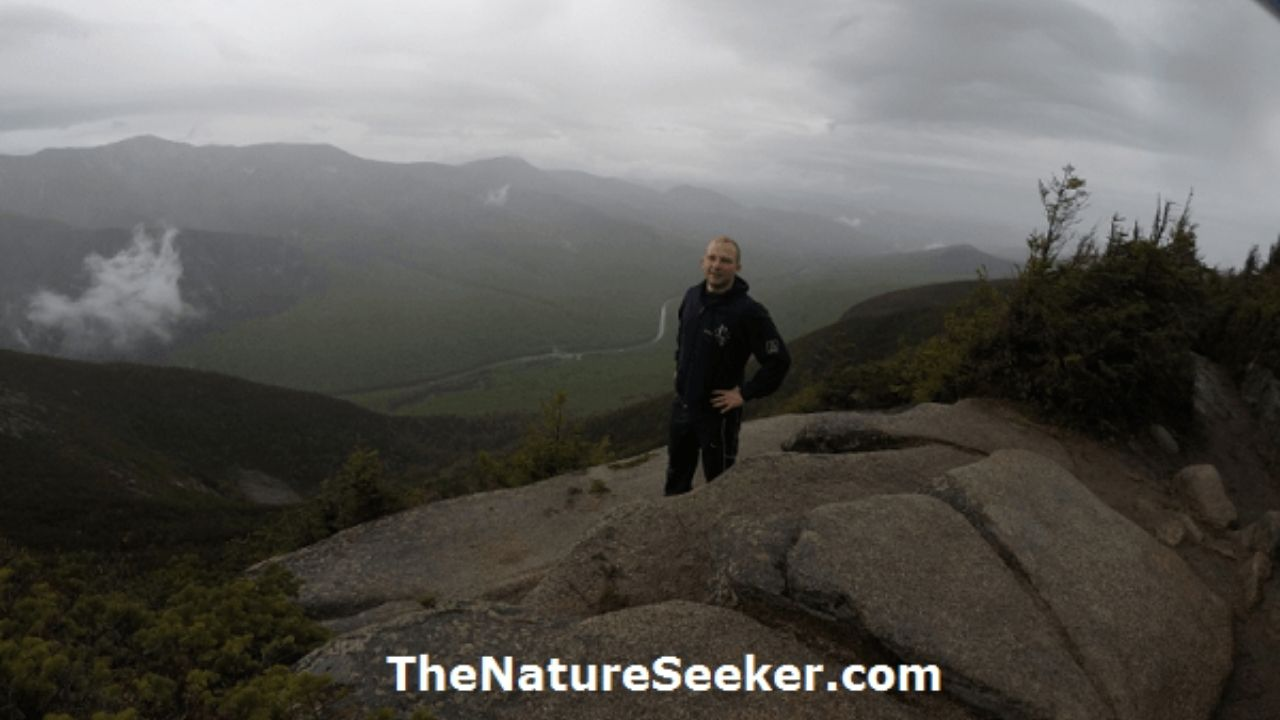 hiking at the top of cannon mountain nh