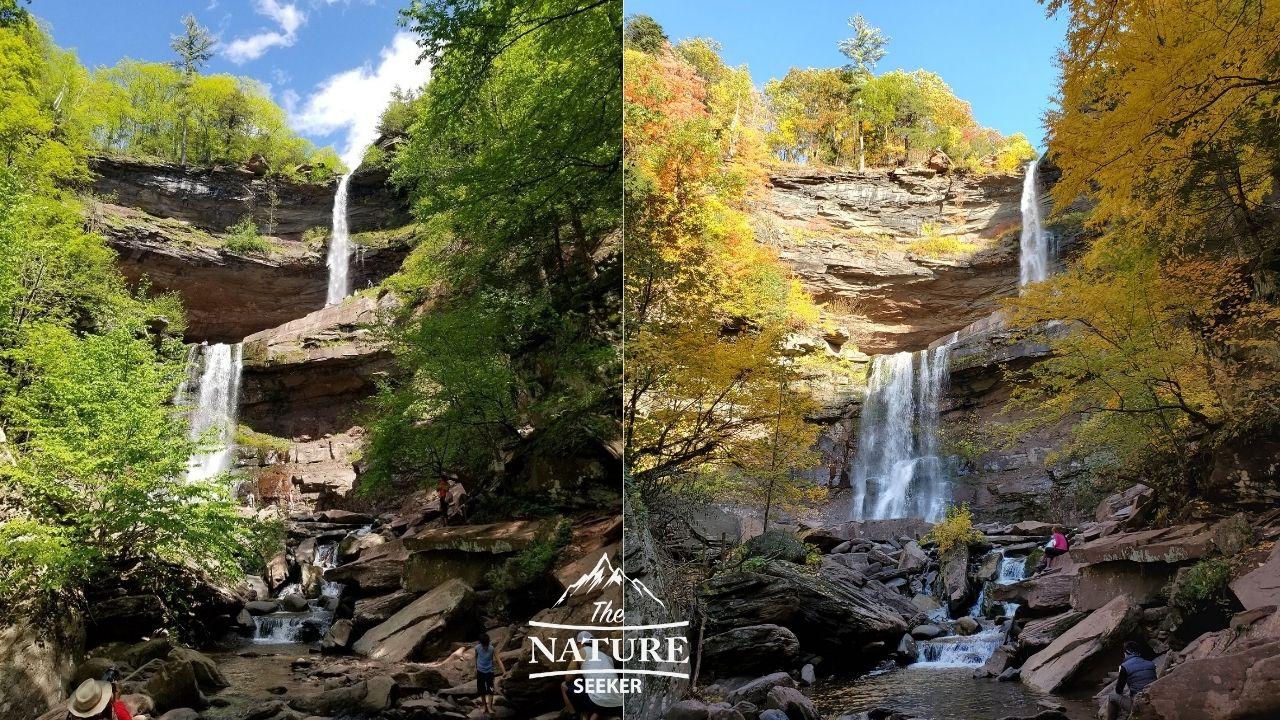 kaaterskill spring vs autumn catskills