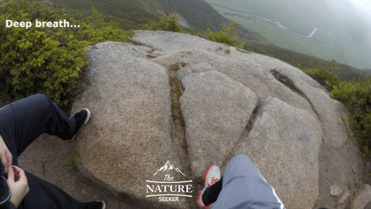 looking down from cannon mountain