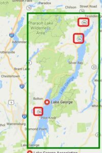 map of lake george in new york