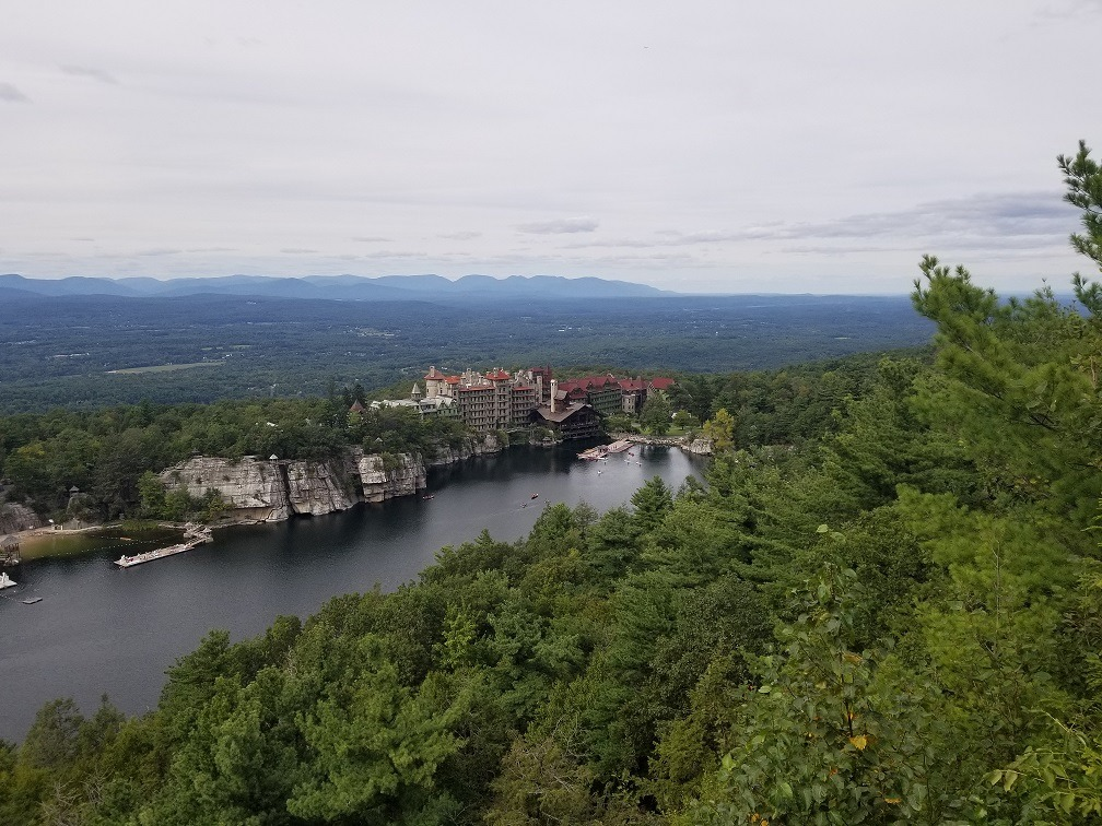 mohonk preserve viewpoint from a top