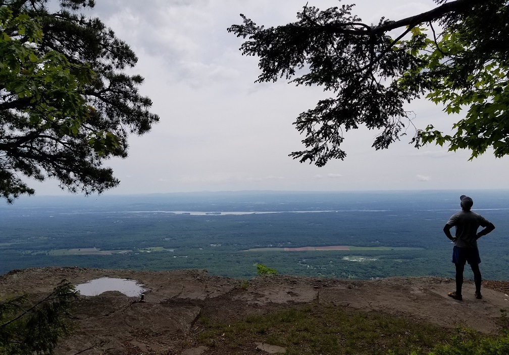 overlook area near north south lake