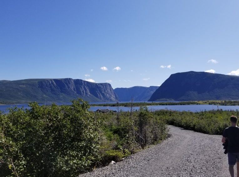 photo of western brook pond trail to dock