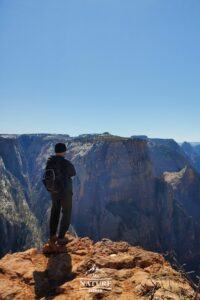 picture of observation point hike at zion national park