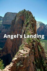 the angels landing hike at zion national park image