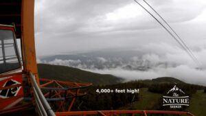 top of cannon mountain at gondola