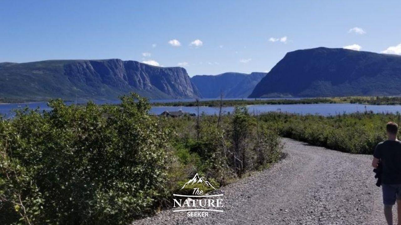 western brook pond hike to dock new foundland eastern canada