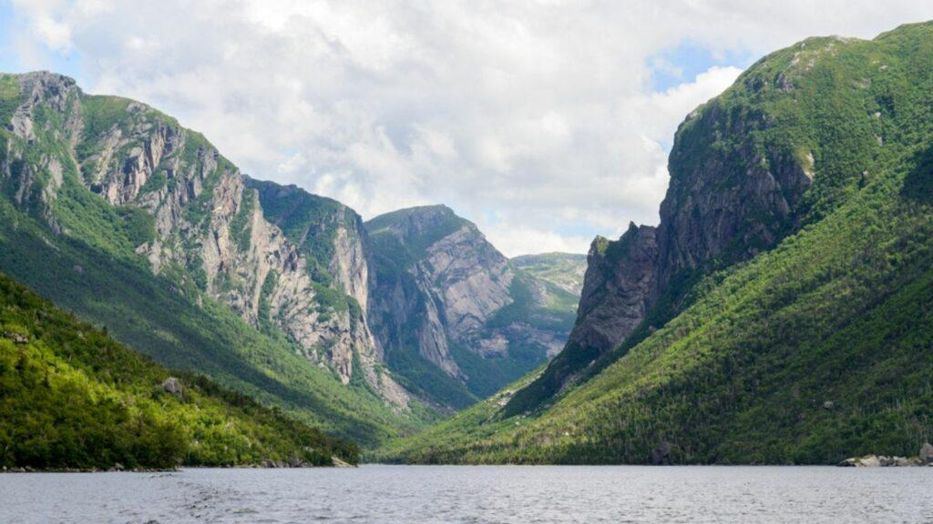 western brook pond at gros morne national park