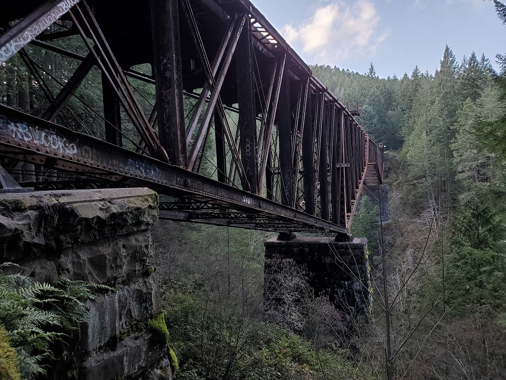 abandoned trestle in vancouver island