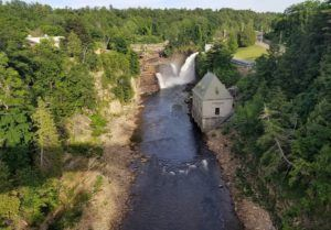 ausable chasm river waterfalls