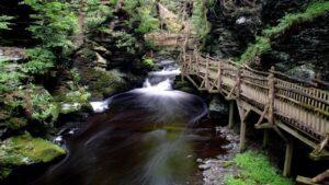 bushkill falls area at delaware water gap