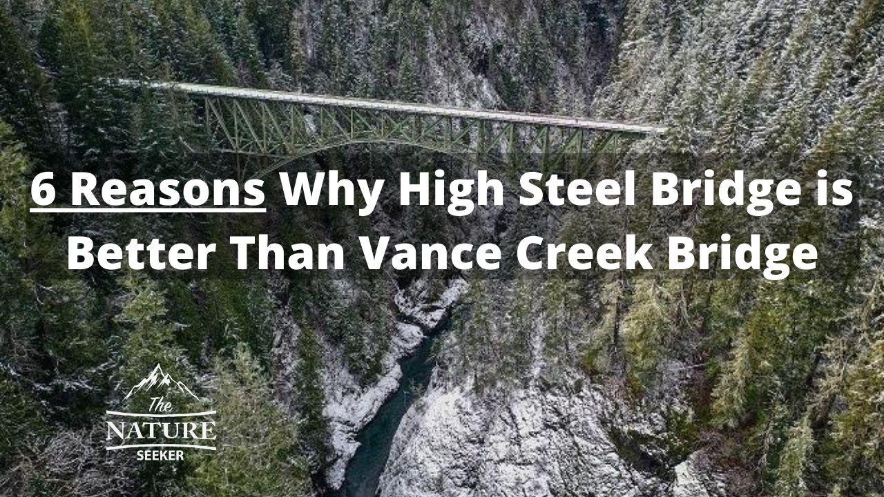 why high steel bridge is better than vance creek bridge 01