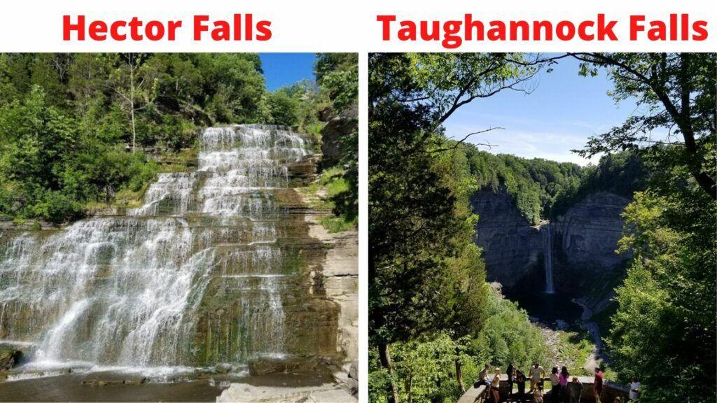 hector falls taughannock falls finger lakes