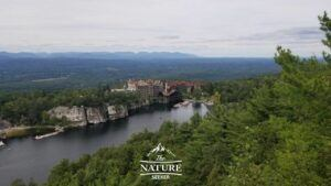 beautiful view of mohonk preserve from the top
