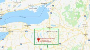 map listing of watkins glen state park in new york