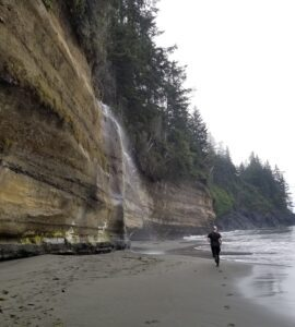 mystic beach waterfall photo