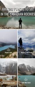 places to see in the canadian rockies infographic