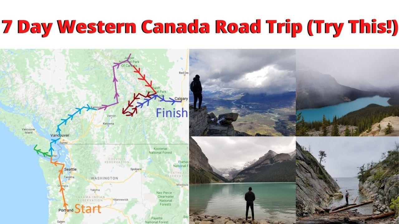 7 day road trip across western canada