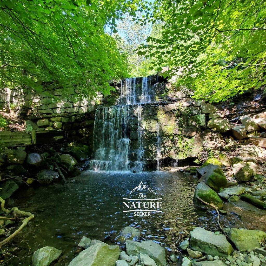 beautiful waterfall near breakneck ridge