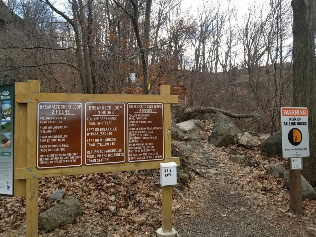breakneck ridge trail sign