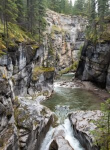 maligne canyon in jasper photo