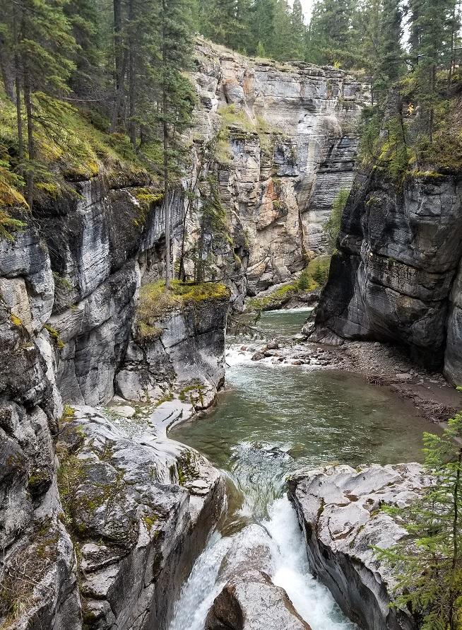 maligne canyon in jasper western canada